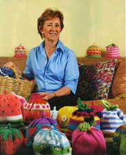 Photo of Margareta Horn with a collect of hats from SRQ Magazine April 2010