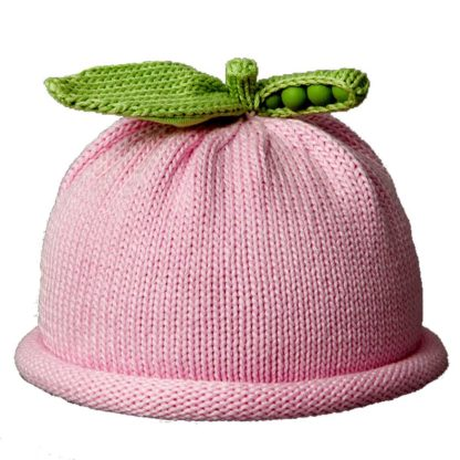Pink Green Pea Knit hat