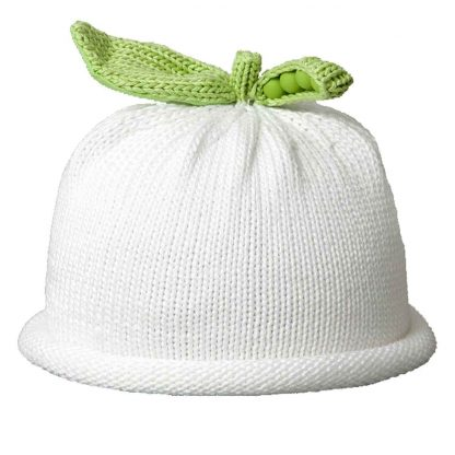Sweet Pea Knit Hat in White