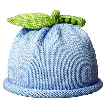 Sweet Pea Knit Hat in Blue