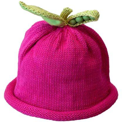Sweet Pea Knit Hat Fuchsia