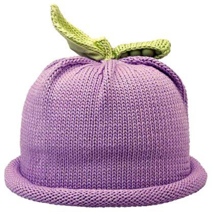 Sweet Pea Knit Hat in Lavender