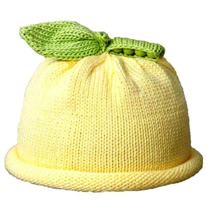Sweet Pea Knit Hat in Yellow